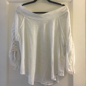 Free people off the shoulder white top